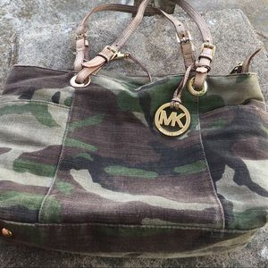 Michael Kors camo canvas purse